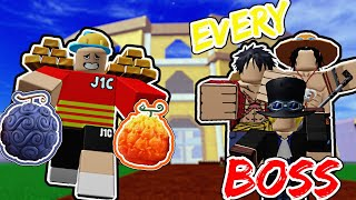 Finding Devil Fruits And Using to DEFEAT EVERY BOSS In BLOX FRUIT
