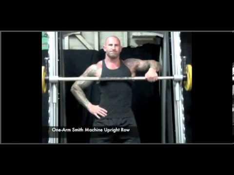 smith machine one arm upright row