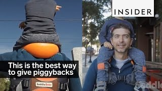 This is the best way to give kids piggyback rides