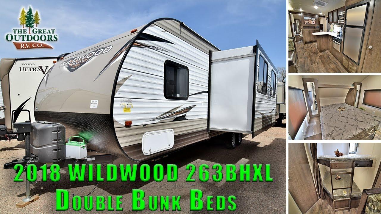 2018 Wildwood 263bhxl Double Bunk Beds Front Queen Bedroom Rv