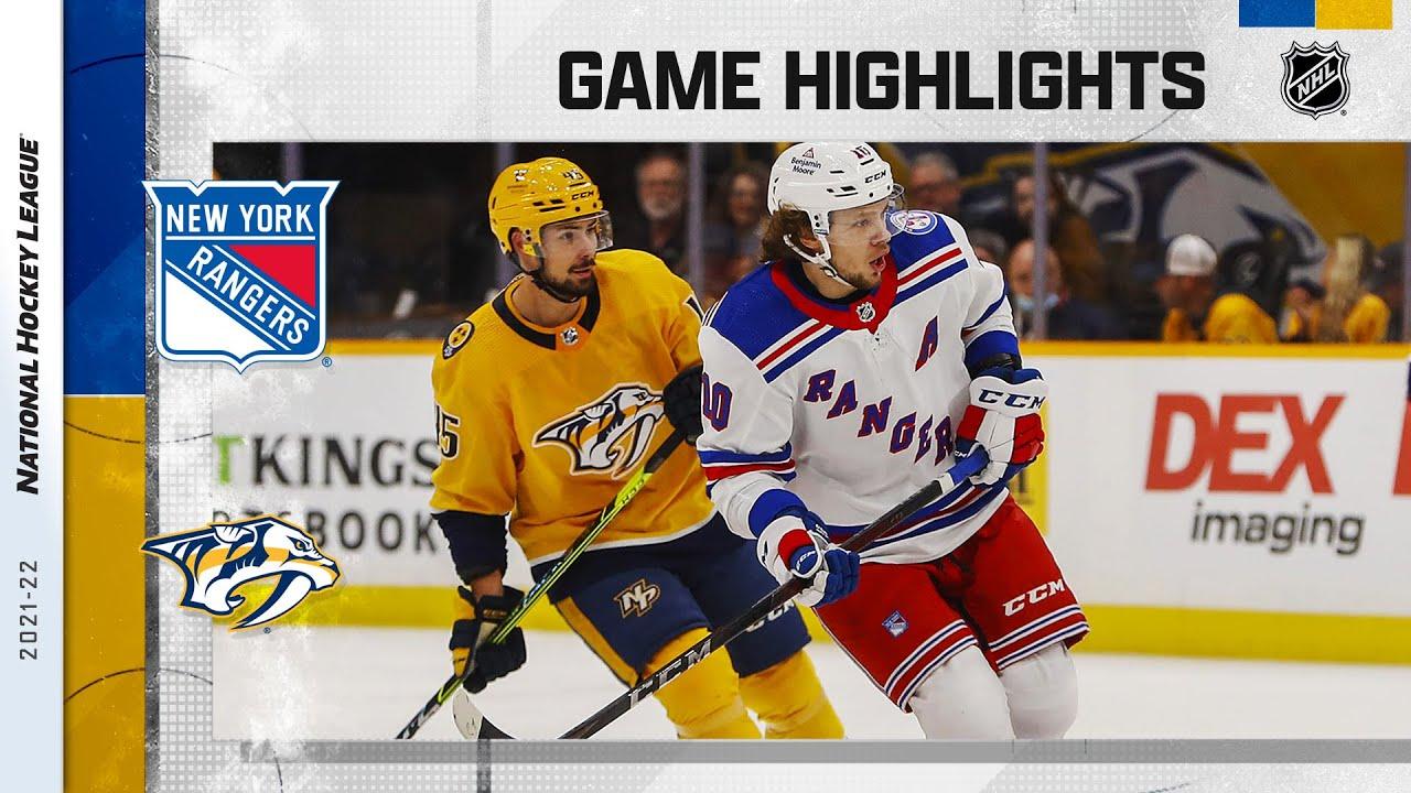 Download Rangers @ Predators 10/21/21 | NHL Highlights