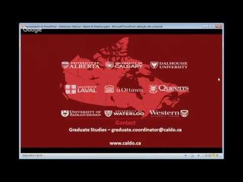 Admissions Webinar (Alberta and Waterloo)- Dec 2016