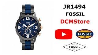 JR1494 Fossil Nate Chronograph Black/Blue Militar ..... DCMStore