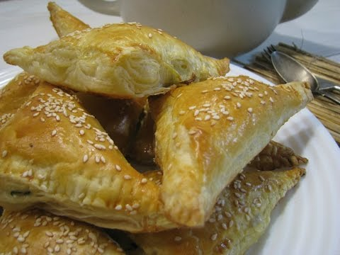 Слоеные пирожки с килькой пряного посола Рецепт вкусных пирожков Выпечка из слоеного теста