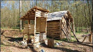 Woodland Smoke House Build. Natural Materials