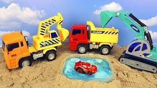 Игрушечные #Машинки #Самосвал и Экскаватор. Играем в песке.Игрушки и Видео для детей  unboxing  2017