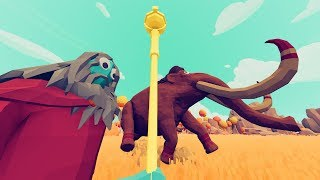 Time Wizard Saves Mammoths from Extinction - TABS Story - Totally Accurate Battle Simulator Mods