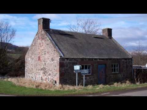 Derelict Scottish Cottage Dron Perthshire Scotland