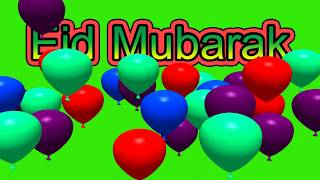 "Eid MubarakText Animation Green Screen""Chroma Stock footage""Eid Mubarak In Advance 2018""no 32"