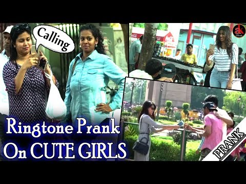 RINGTONE PRANK ON CUTE GIRLS || AK PRANK