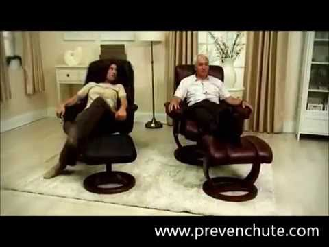 fauteuil de relaxation inclinable avec pouf prevenchute youtube. Black Bedroom Furniture Sets. Home Design Ideas