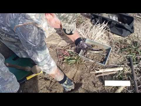 coyote trapping in Missouri . Making pipe set 1 of 2