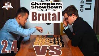 Brutal Liren Ding VS Magnus Carlsen #2.4 CHAMPIONS SHOWDOWN 2017