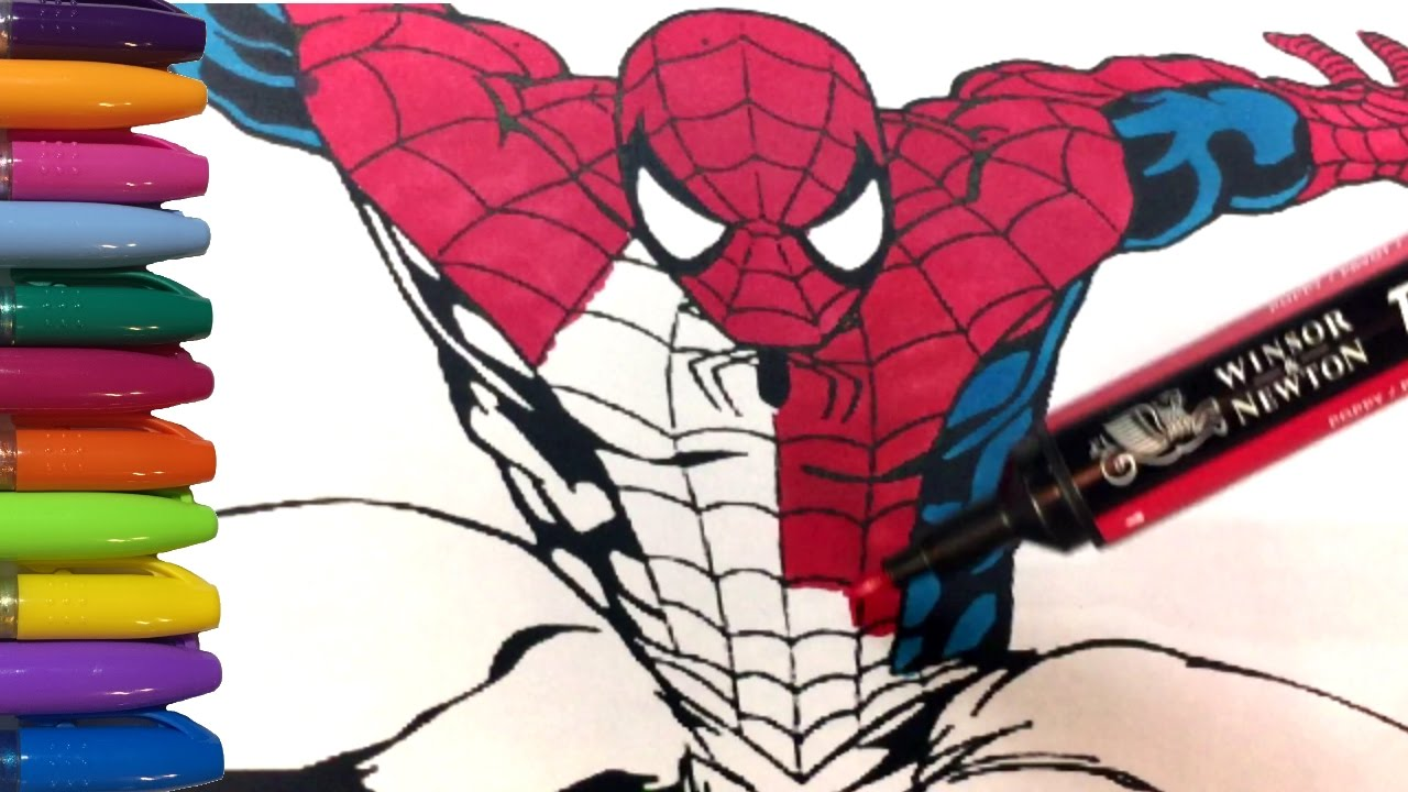 Spiderman Coloring Book Marvel Superhero - YouTube