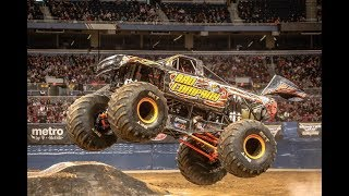 ANOTHER CONSECUTIVE BACKFLIP!! Monster Jam Week 9 March (9-10) Detroit Commentary