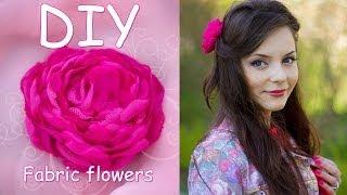 Пион из комбинированной ткани / Мастер класс/ Fabric Flowers