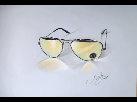 Drawing Time Lapse: Glasses – hyperrealistic art