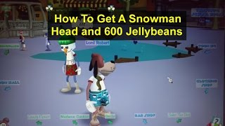 How to get a snowman head and 600 jellybeans, using a new toon, Toontown Rewritten 2016