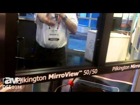 DSE 2014: Pilkington Demos the MirroView 50 50 Mirrored Display Glass