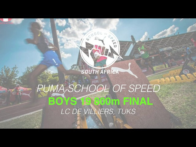 Boys 19 800m Final - 2020 PUMA Tuks School of Speed