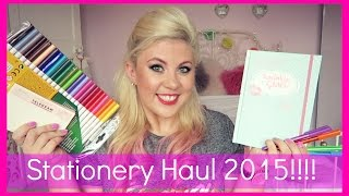 Stationery Haul 2015 & ANNOUNCEMENT! | Sprinkle of Glitter