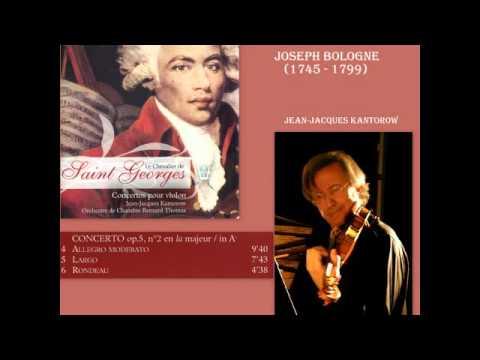 Chevalier de Saint George - Concerto pour violon No. 2 en la majeur, Op. 5