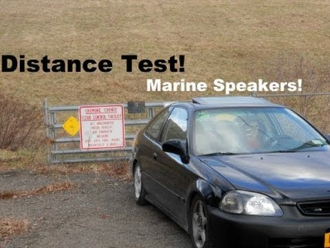 "Quick ""Distance Test""  ""Pyle marine speakers"""