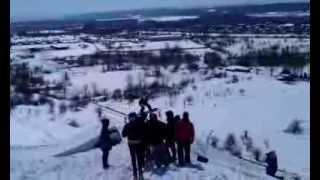 Сноуборд прыжки с трамплина