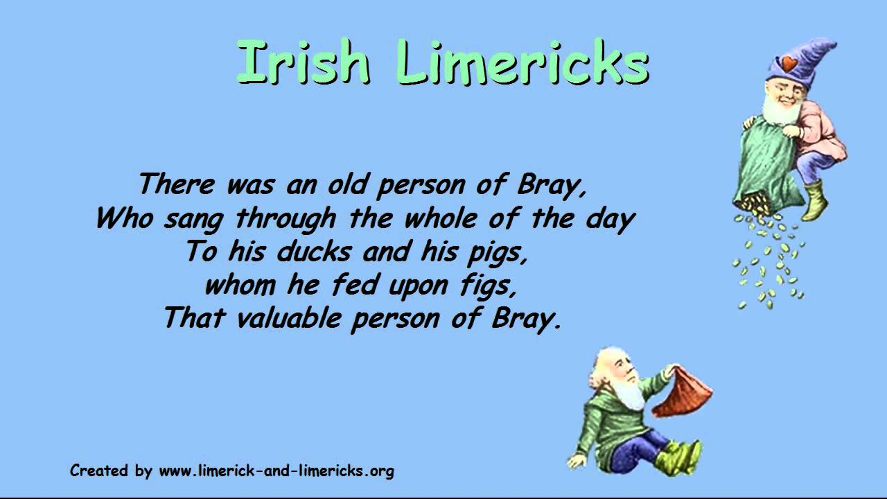 ♣♣♣ Irish Limericks ♣♣♣