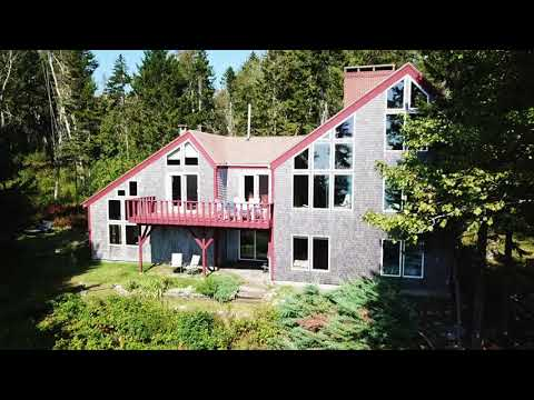 Maine Real Estate   Waterfront Home Penobscot Bay 26 acres 1080