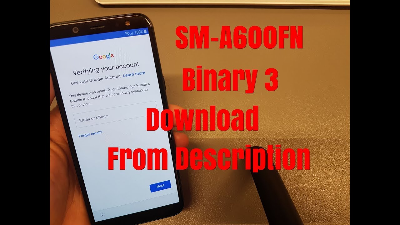 BOOM!!! Samsung A6 SM-A600FN Android 8 Binary 3 Remove Google Account  Bypass FRP