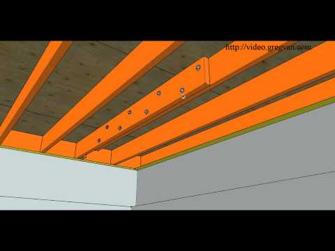 How To Repair Cut or Damaged Floor Joist – Bolting New Joist To Existing