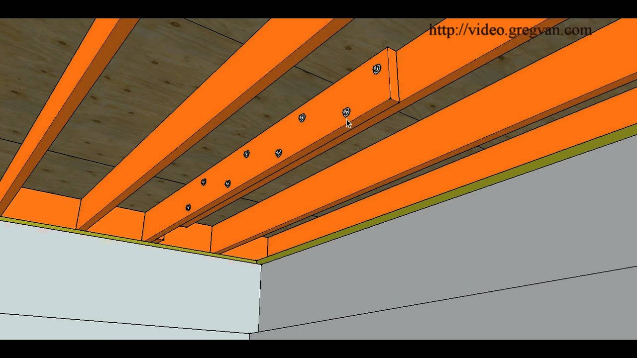 How To Repair Cut or Damaged Floor Joist  Bolting New ...