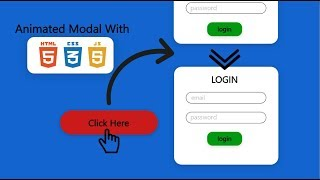 animated show when click button (modal pop) HTML CSS3 and JQUERY