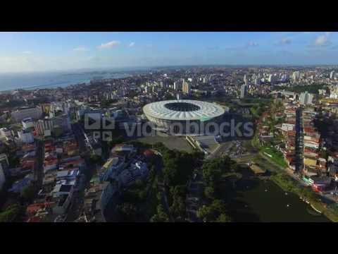 aerial view of itaipava arena fonte nova stadium and salvador cityscape bahia brazil vjq3bvyj