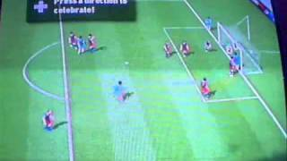 Wii FIFA 11 DISGUSTING goals and tricks online NY Redbulls