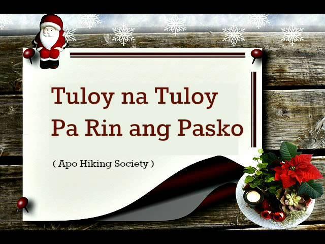 Tuloy Na Tuloy Parin Ang Pasko Apo Hiking Society Chords Chordify