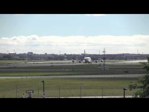 Emirates 241 Greeted by some vintage planes at Toronto Pearson