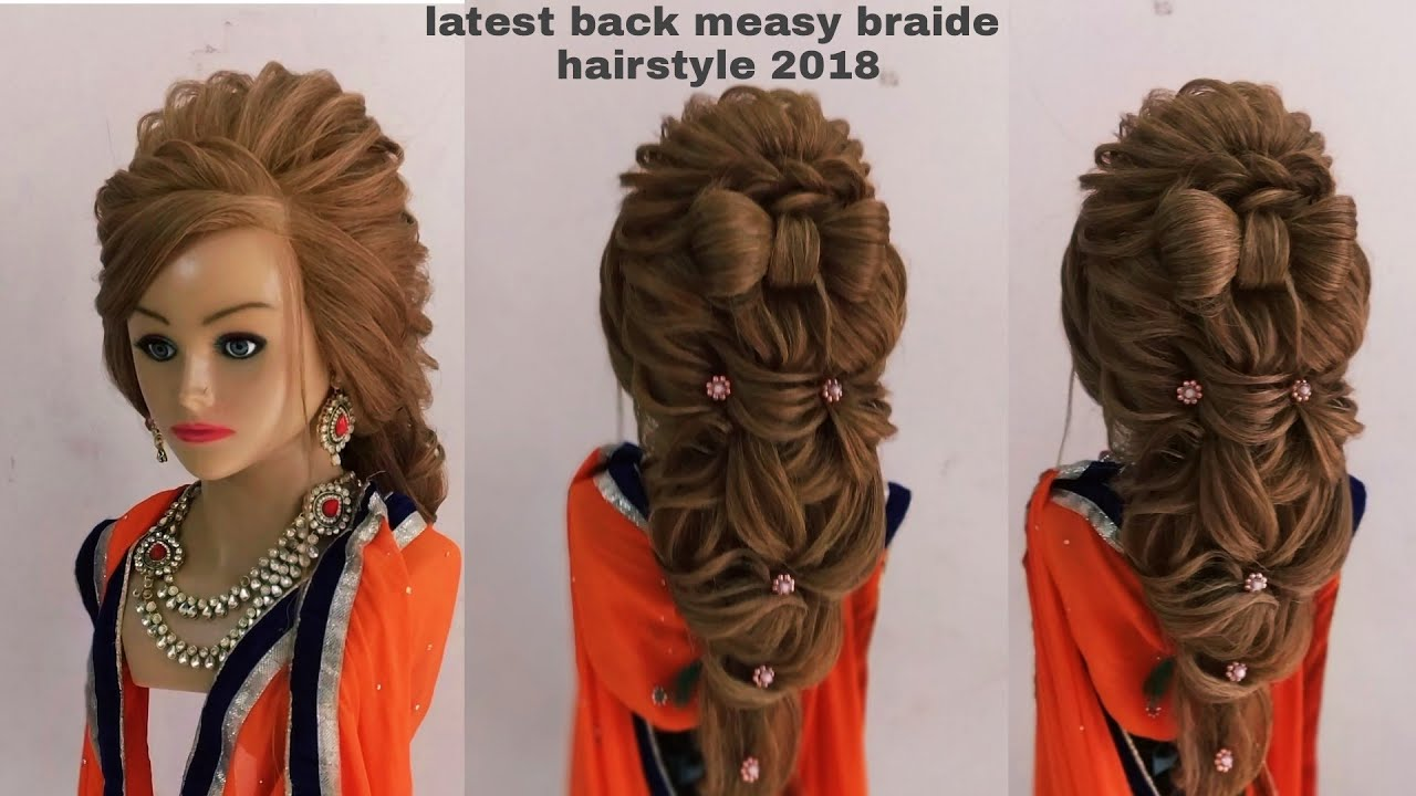 Back Messy Braid Hairstyle Hair Tutorial Back Messy Hairstyle Video