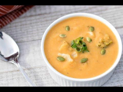 Cheesy Cauliflower Broccoli Soup
