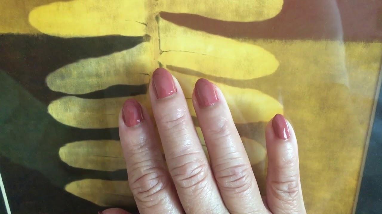 Polishing With Opi Java Mauve Nail Color Youtube