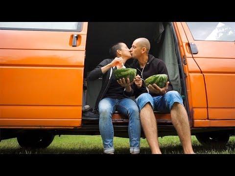 What We Eat In A Day | VEGAN VAN LIFE Couple | Minimalist Travel