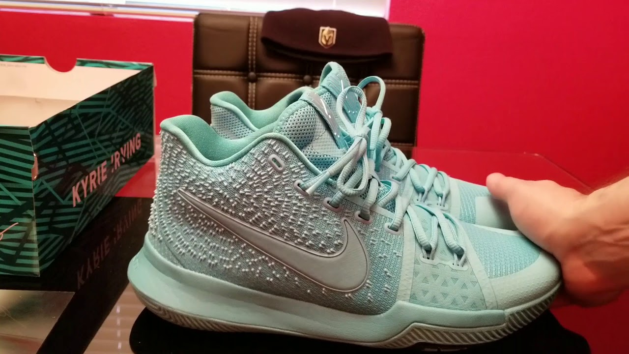 5a7cb54f35c6 Nike Kyrie 3 Aqua   Tiffany review on feet - YouTube