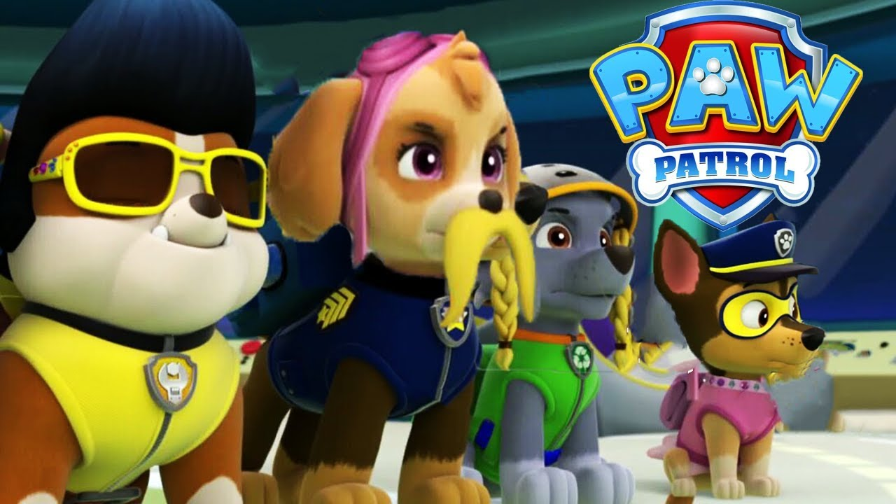 PAW PATROL Pups Save The HALLOWEEN Face Swaps - Try Not To Laugh Video For  Kids