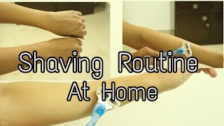 Shaving Routine at Home| Easy shave With Gillette Venus | How to shave at home