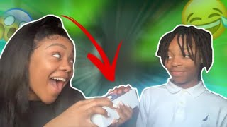 SUPRISING MY LITTLE BROTHER WITH A IPHONE XR (PRANK) *I MADE HIM CRY