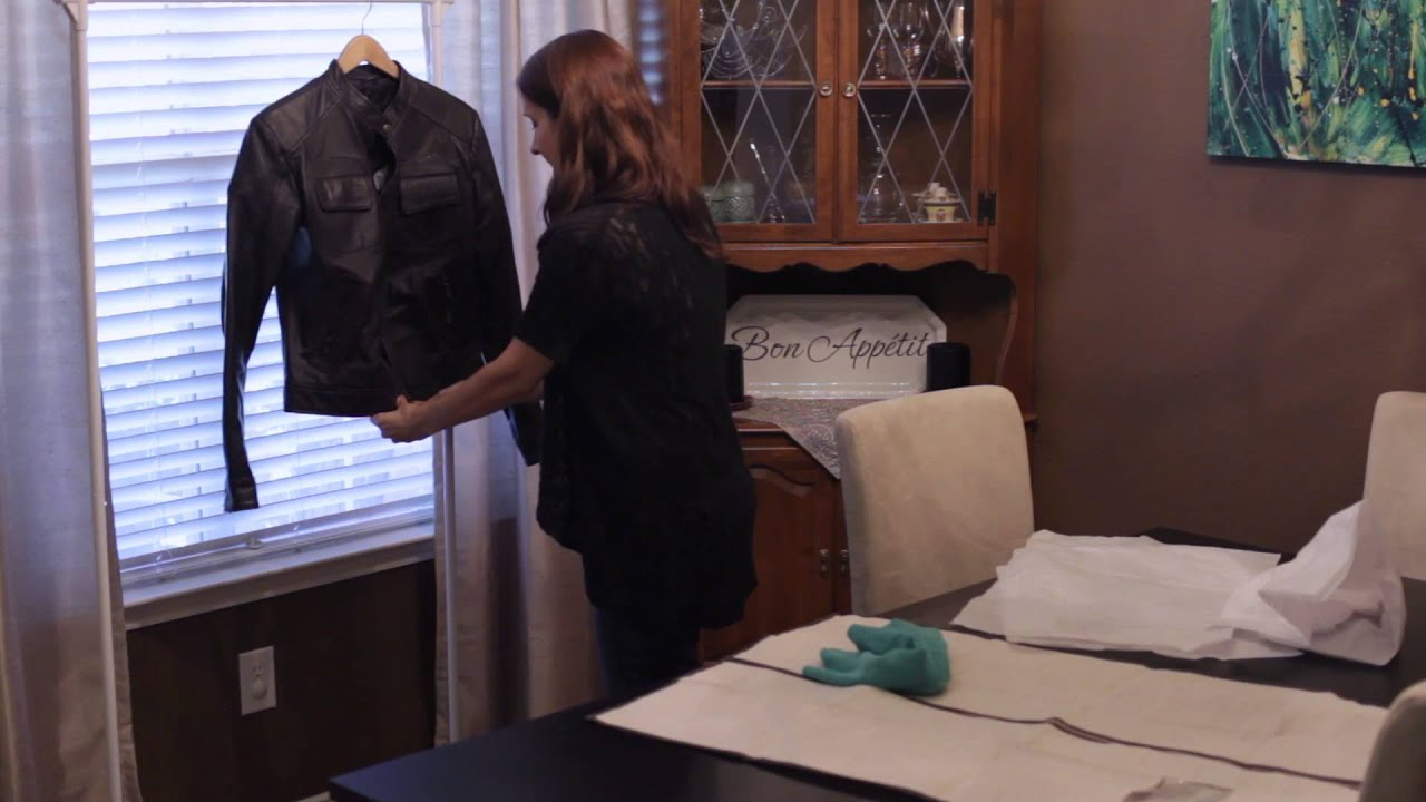 Recommended Storage for a Leather Jacket : Home Organizing - YouTube