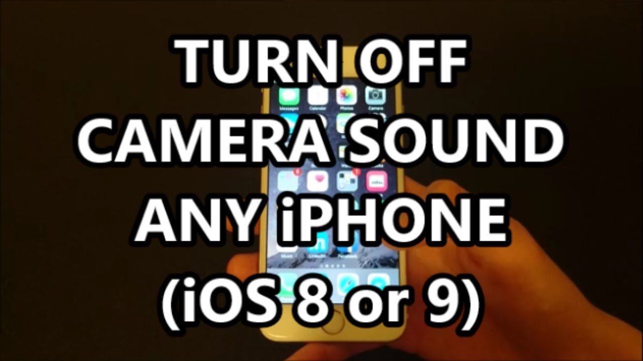 how to stop iphone camera sound