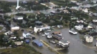 Raw: Coast Guard Surveys Hurricane Arthur Damage