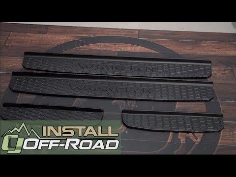 2018 Jeep Wrangler Jl Gets Premium Mopar Interior Protection By Installing Black Door Sill Guards